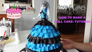Halloween Monster High Doll How To Make A Monster High Doll Cake Frozen Princess Or Barbie