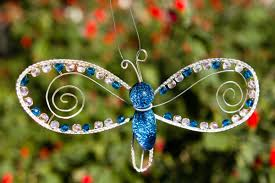 butterfly memorial ornament silverwrapped with swarovski beading