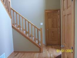 Wood Banisters And Railings Basement Stair Rail And Baluster Question Carpentry Diy