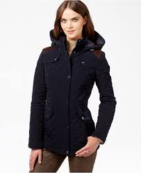 laundry by design hooded jacket laundry by design hooded quilted coat coats women macy s