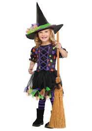 Halloween Witch Costumes Toddler Polka Dot Witch Costume