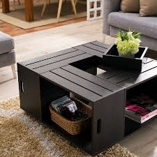 coffee table coffee table wood crate with flowers harte design