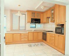 Light Wood Kitchens Traditional Light Wood Kitchen Cabinets With White Appliances