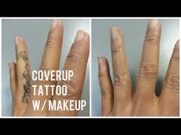 how to coverup your tattoo with makeup youtube