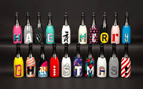 unique wine bottles this agency created 20 unique wine bottles to wish clients a merry