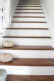Stairs With Laminate Flooring Stair Makeover Treads And Risers Exposed