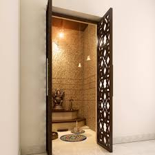 Interior Room Doors Lattice Doors That Make Your Pooja Room Look More Attractive