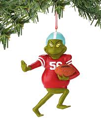dr seuss department 56 football grinch ornament zulily