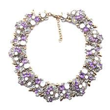 statement necklace with flower images Goddess cz flower statement necklace femmi accessories jpg