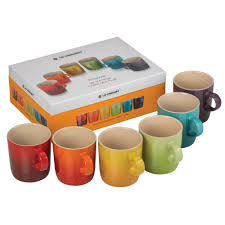 stoneware rainbow mugs set of 6 wish list pinterest