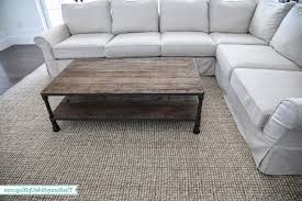 table in living room living room gray sofa decor coffee table and rug light ideas alsos