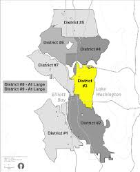 seattle map by district seattle city council districts