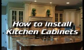 How To Mount Cabinets Pleasant How To Install Replacement Cabinets Tags How To Install