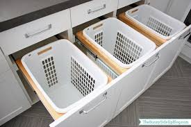 Designer Laundry Hampers by Downstairs Laundry Room The Sunny Side Up Blog