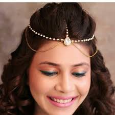 hair jewellery new matha patti jewellery chain gold indian tikka headpiece