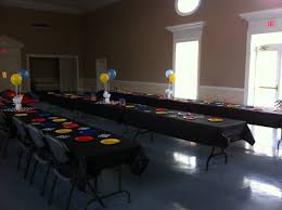 Blue Yellow And Black Flag Gage U0027s Wheels Party Black Tablecloths With Red Blue
