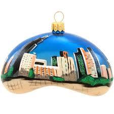 chicago bean glass ornament novelty nostalgia