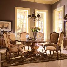 furniture beautiful brown round dining room table set tables