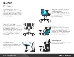 Good Desk Chair For Gaming by Amazon Com Vertagear S Line Sl4000 Racing Series Gaming Chair