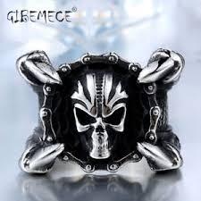 cool claws motor biker chain skull ring 316l stainless steel women mens sharp