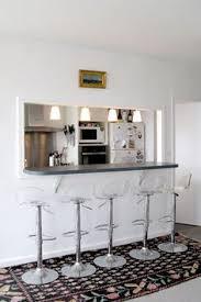 idee ouverture cuisine sur salon le passe plat et comptoir donne directement sur la cuisine parfait
