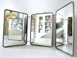 Antique Bathroom Mirrors by Vintage French Three Way Tri Fold Vanity Mirror Omero Home 3 Way