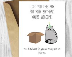 printable cat birthday card happy birthday cat digital card