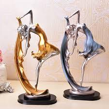 europe creative resin graceful ballet sculpture
