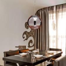 modern pendant lights mirror glass ball vacuum led pendant lamp