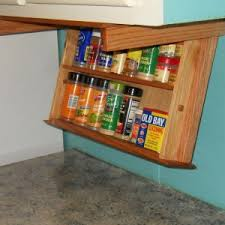 Contemporary Spice Racks Brocktonplace Com Simple Kitchen With Under Cabinet Mounted Spice