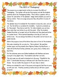 the abc s of thanksgiving program and original script by kidz count
