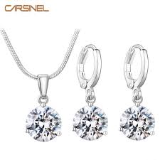 hypoallergenic jewelry carsinel 21 colors jewelry sets for women cubic zircon