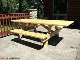 Plans For Building A Picnic Table With Separate Benches by Picnic Table Bench Plans U2013 Amarillobrewing Co