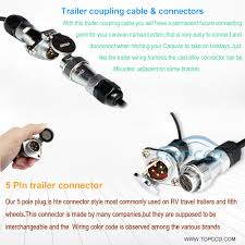 heavy duty trailer cable kit for 2 cameras topccd industrial