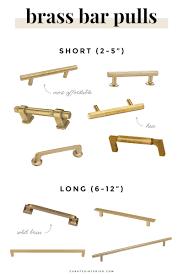 brass kitchen hardware 18 bar pulls u0026 knobs