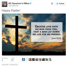 forget the first amendment on easter north carolina u0027s governor