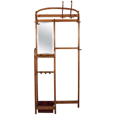 bentwood thonet coat rack and umbrella stand with mirror at 1stdibs