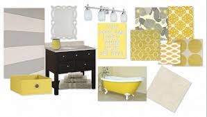 Bathroom Accessories Decorating Ideas by Yellow And Gray Bathroom Accessories Bathroom Decor
