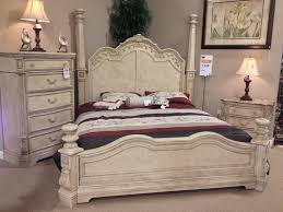 ortanique king poster bed three drawer nightstand 5 drawer