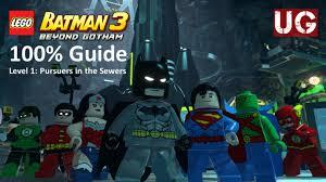 lego batman 3 beyond gotham level 1 pursuers in the sewers