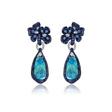 turquoise opal earrings sutra opal u0026 sapphire earrings annoushka com