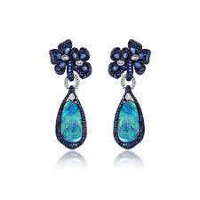 turquoise opal earrings sutra opal u0026 sapphire earrings annoushka com
