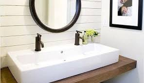 diy small bathroom sink ideas trough with two faucets awesome best