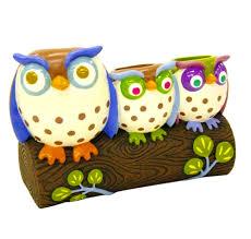 accessories alluring owl bathroom set unique home designs bath