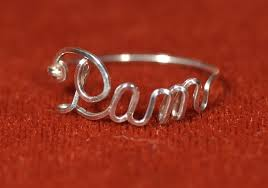 sterling silver name rings name ring in sterling silver wire