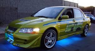 mitsubishi evo ebay own the lime green mitsubishi evo that paul walker drove in 2