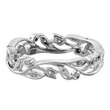 18ct white gold wedding ring white gold 0 12ct vintage floral wedding ring
