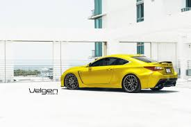 lexus rcf lowered yellow lexus rc f stuns on velgen wheels gtspirit