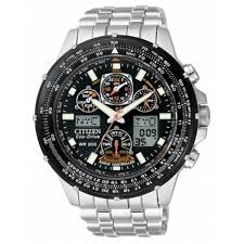 mens stainless steel bracelet watches images Citizen men 39 s eco drive skyhawk atomic stainless steel bracelet tif%3