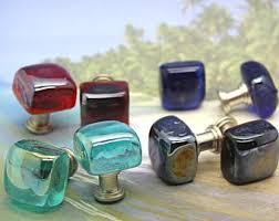Sea Glass Door Knobs by Handcrafted Stone Knobs Cabinet Pulls And By Knuckleheadknobs